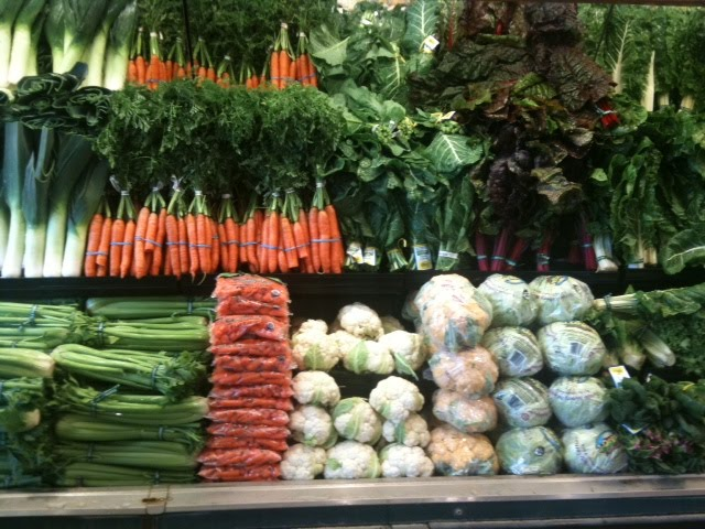 veggies in a store produce