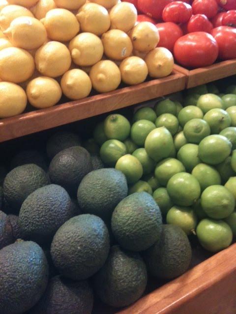 Veggies in a store
