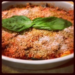 Paleo vegetable lasagna