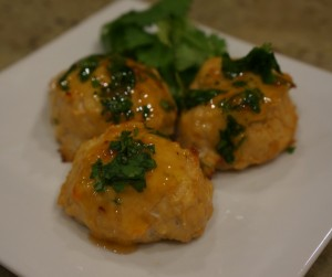 Asian chicken meatball