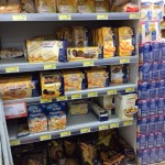 Gluten-free food in an Italian grocery store