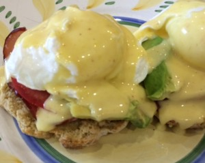 Eggs Benedict on Gluten-Free English Muffin