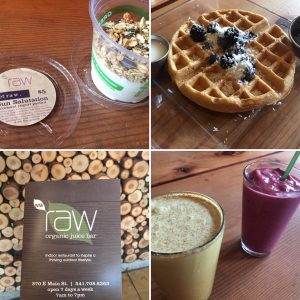 Raw Juice Bar Ashland gluten free