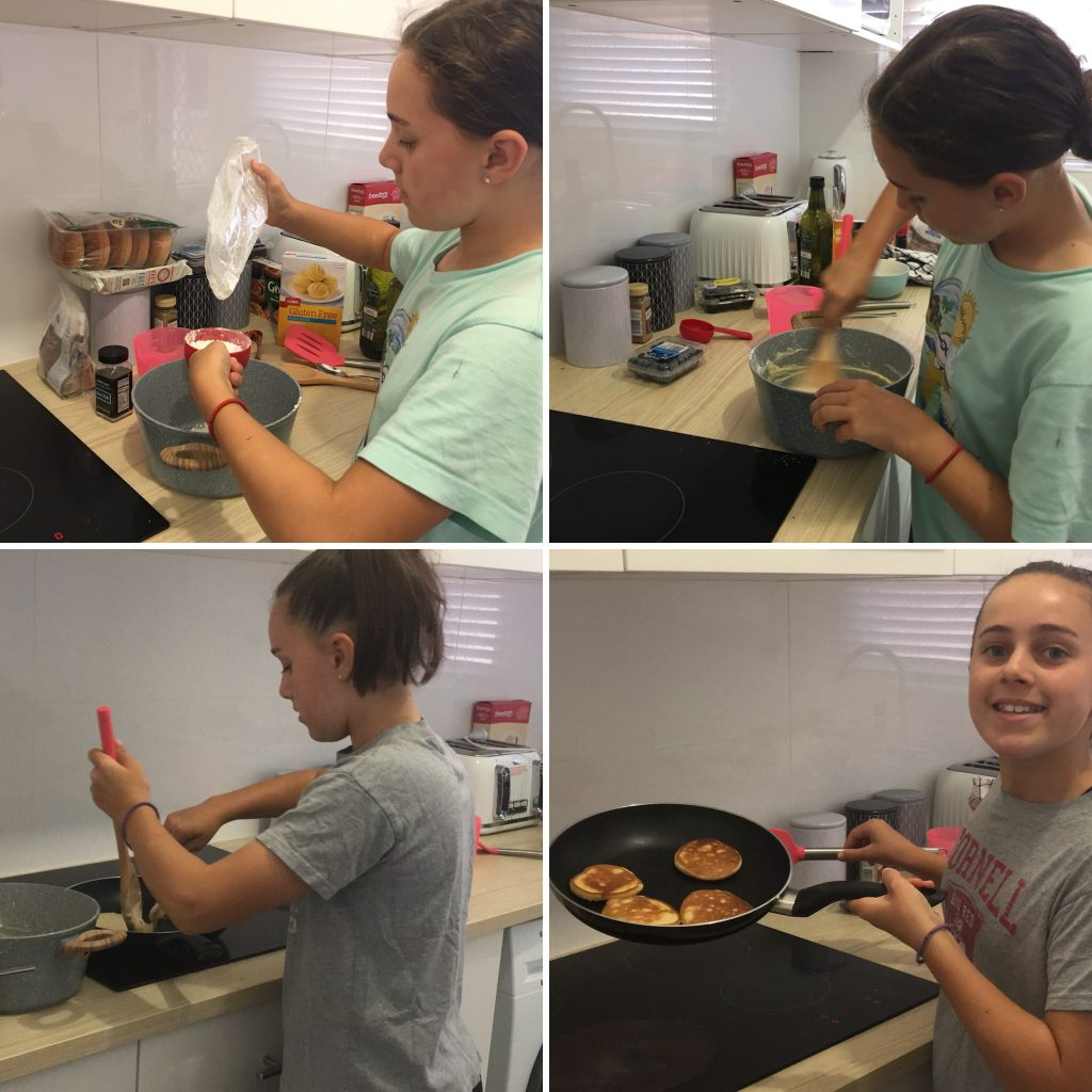 Katie cooks pancakes collage