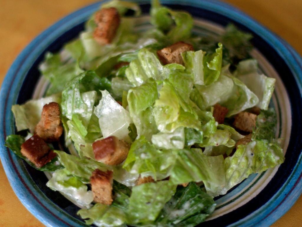 gluten free caesar salad with dressing