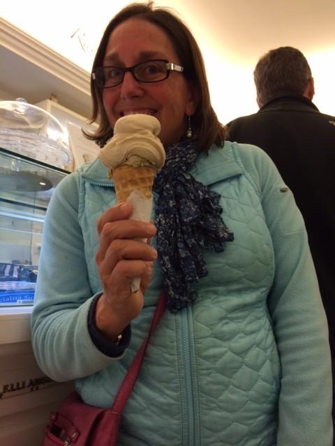 gluten-free cone in Italy