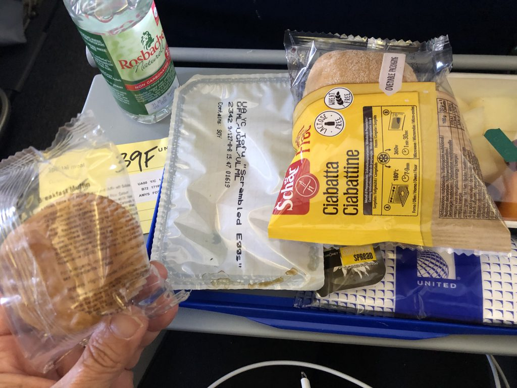 gluten free airplane food