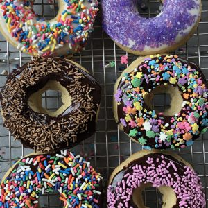 Glazed gluten free donuts